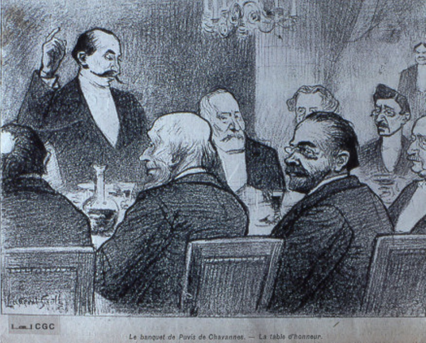 Image - Le banquet de Puvis de Chavannes - La table d'honneur