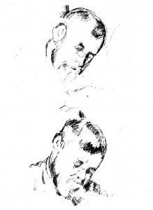 dessin 639 Portraits de Zola Cézanne