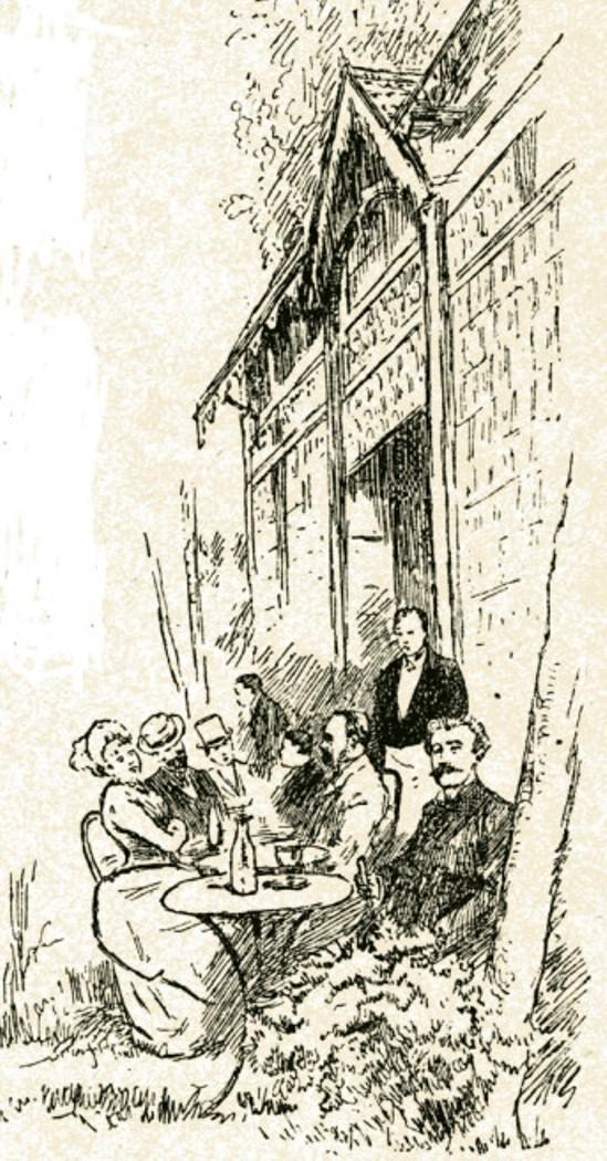 Image - Zola et Charpentier dans le parc de Royan
