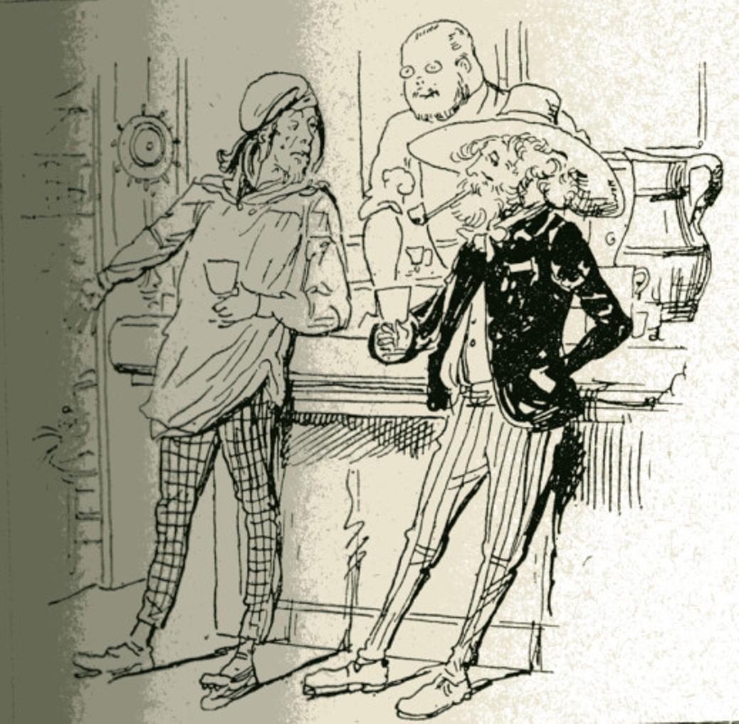 Image - Zola en serveur de café