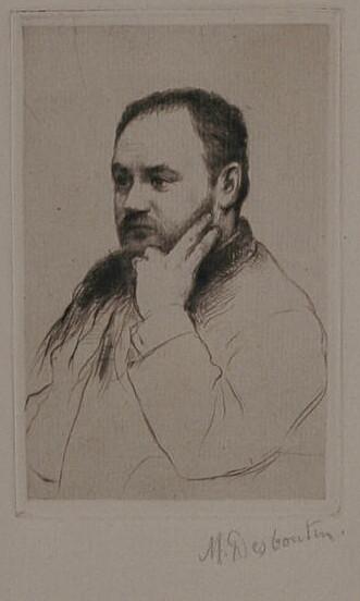 Image - Emile Zola, la tête appuyée sur la main gauche