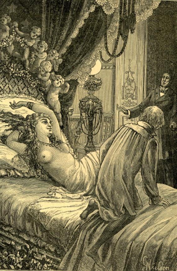 Image - Nana couchée avec le marquis de Chouard