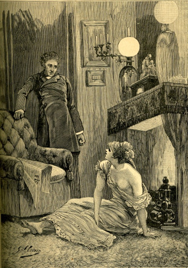 Image - Nana nue devant le feu et le comte