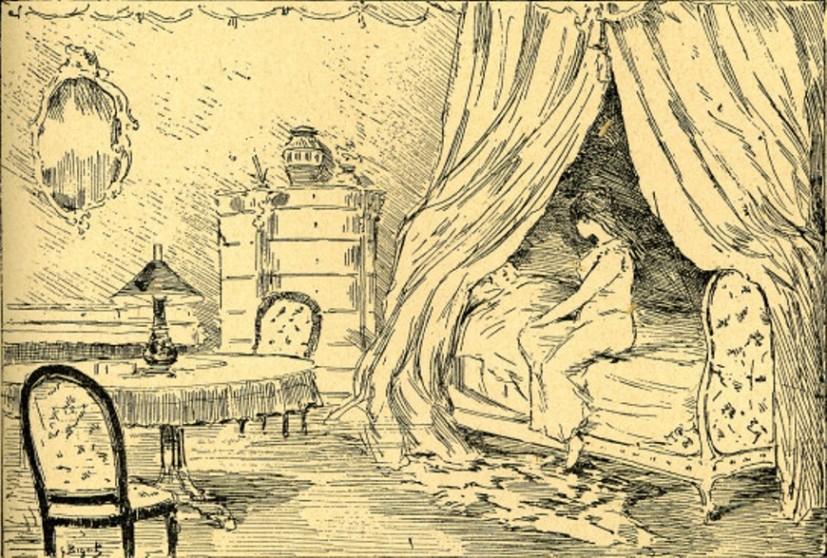 Image - Dans la chambre, Nana et le comte