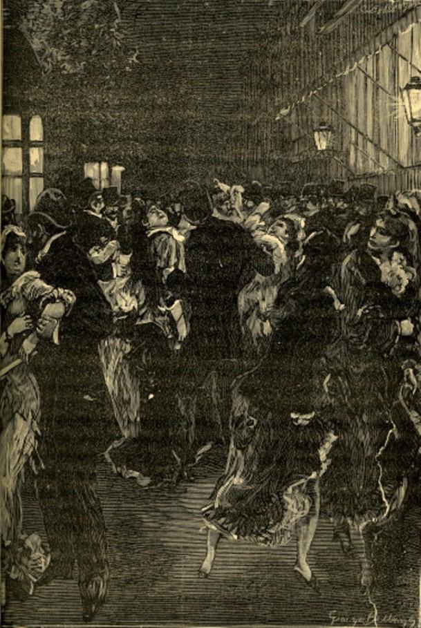 Image - La police opérant une rafle de femmes sur le boulevard