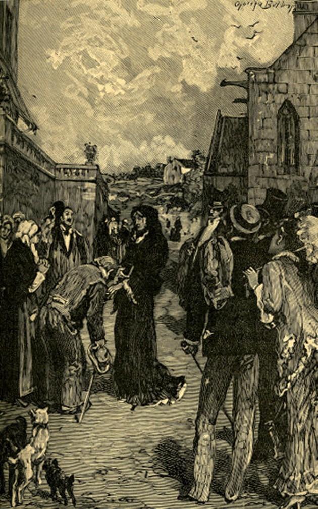 Image - L'ancienne fille, Mme d'Anglars, passant devant Nana et sa bande