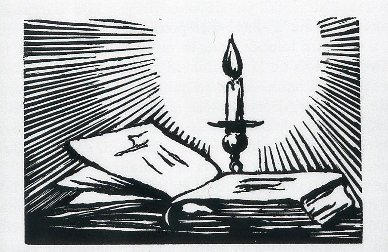 Image - Une chandelle et un livre