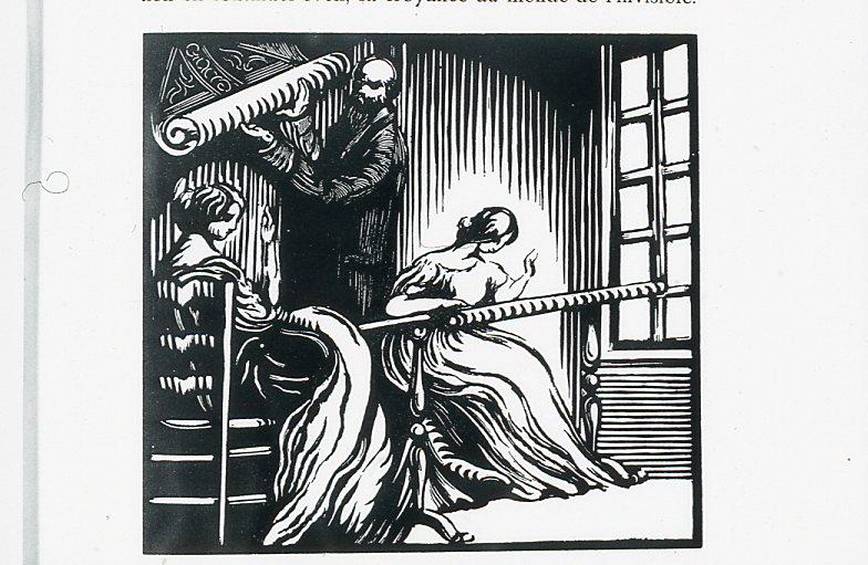 Image - La famille Hubert travaillant dans son atelier de broderie