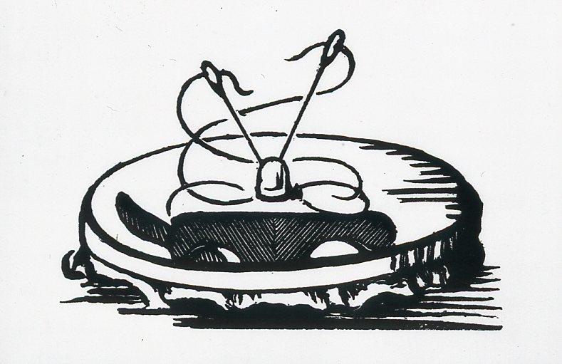 Image - Deux aiguilles piquées dans un tambour