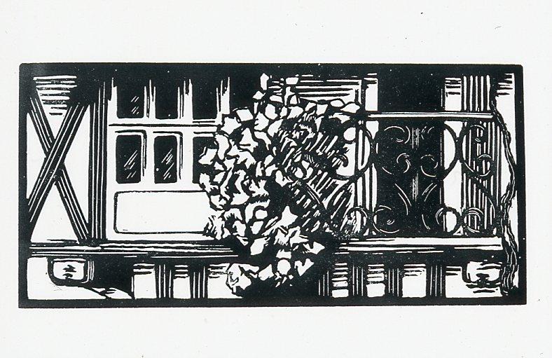Image - Le balcon fleuri de la chambre d'Angélique