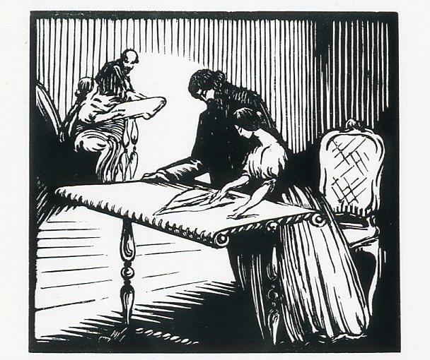 Image - Angélique et Félicien face au croquis de la mitre de Monseigneur