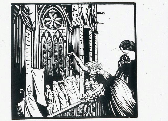 Image - Angélique et Hubertine assistent à la procession