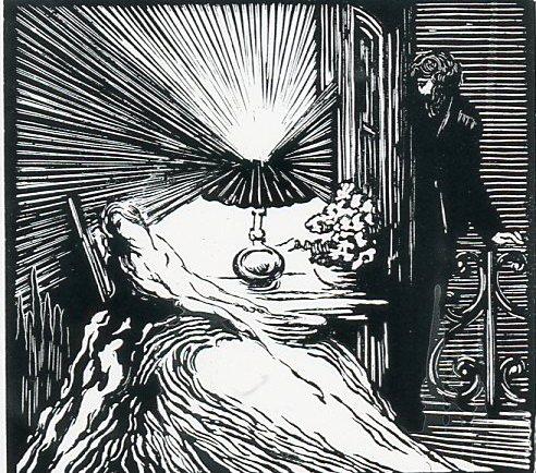Image - Félicien observe Angélique affaissée au fond d'un fauteuil