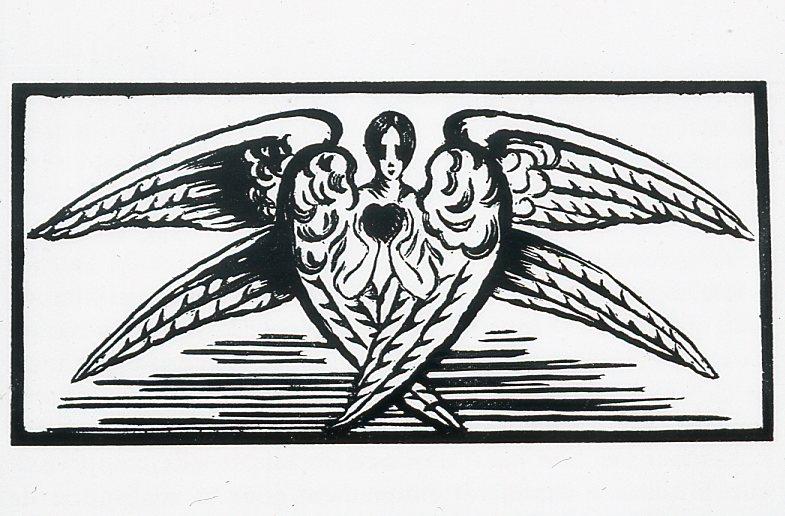 Image - Un ange à six ailes tenant un coeur