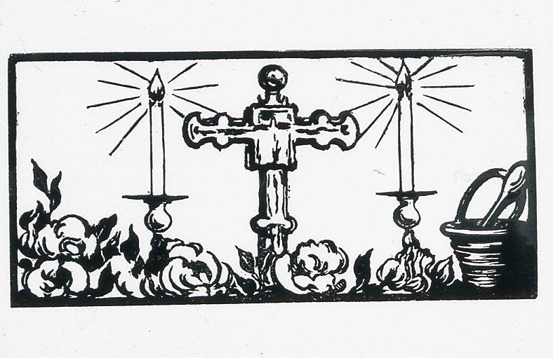 Image - Un crucifix et deux cierges