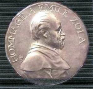 médaille 564 Zola par Charpentier