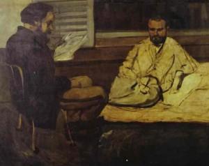 peinture 224 Alexis lisant à Zola