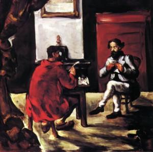 peinture 528 Alexis et Zola par Cézanne