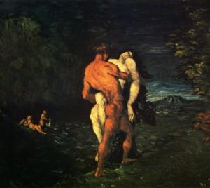peinture 529 L'enlèvement par Cézanne