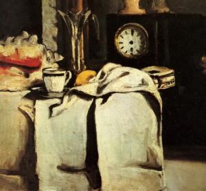 peinture 531 La pendule noire par Cézanne