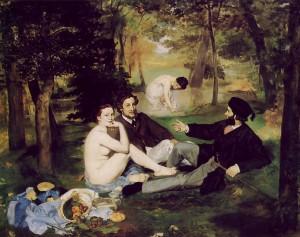 peinture 557 Déjeuner sur l'herbe Manet