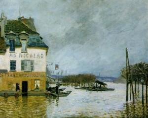 peinture 585 Inondation à Port-Marly Sisley