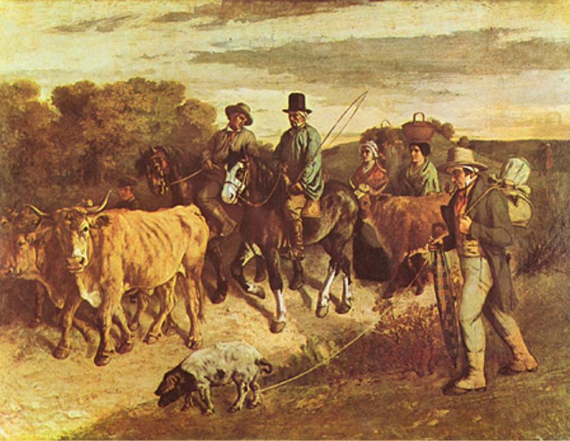 Image - Les paysans de Flagey revenant de la foire