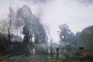 peinture 605 Un matin à Ville d'Avray Corot