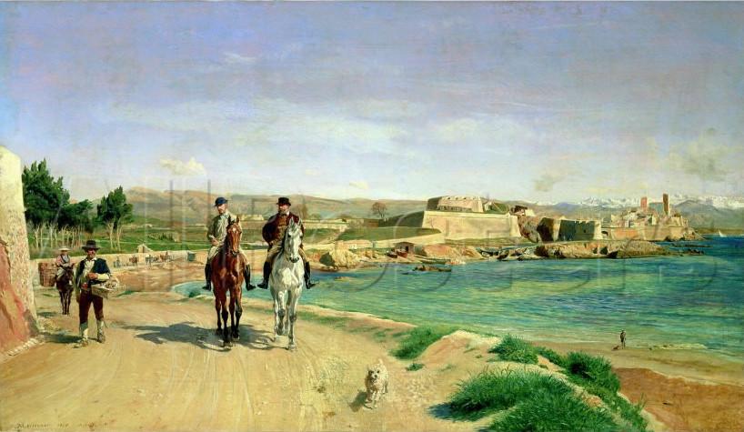 Image - Antibes, la promenade à cheval