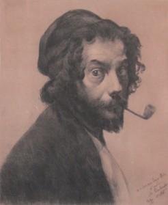 peinture 691 L'homme à la pipe Desboutin