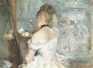 peinture 695 Jeune femme à sa toilette Morisot