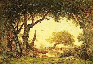 peinture 701 Forêt de Fontainebleau Rousseau