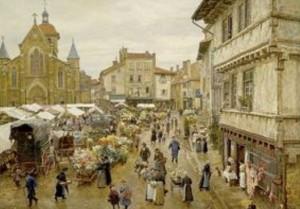 peinture 705 Marché Charlieu Firmin-Girard