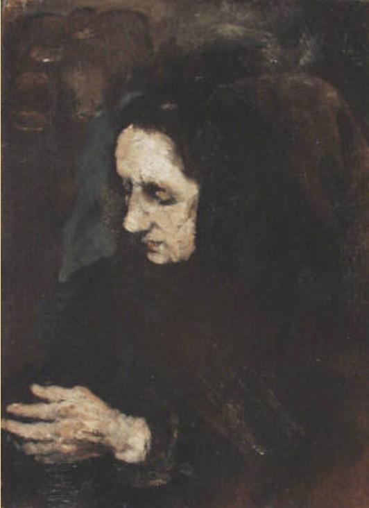 Image - Etude - Portrait de la soeur du peintre Ribot