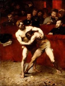peinture 711 Les lutteurs Falguière