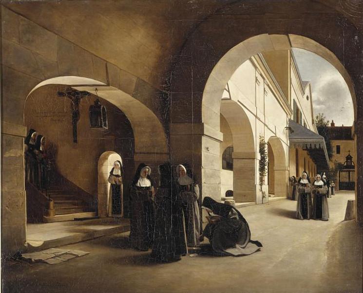 Image - L'Ave Maria. Intérieur du couvent d'Aramont.