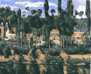 peinture 788 Le château de Médan par Cézanne