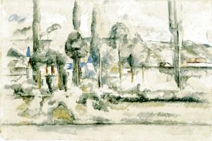 peinture 790 Le château de Médan par Cézanne