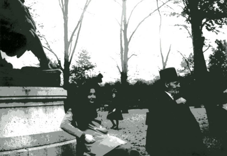 Image - Emile Zola et Denise au parc Monceau