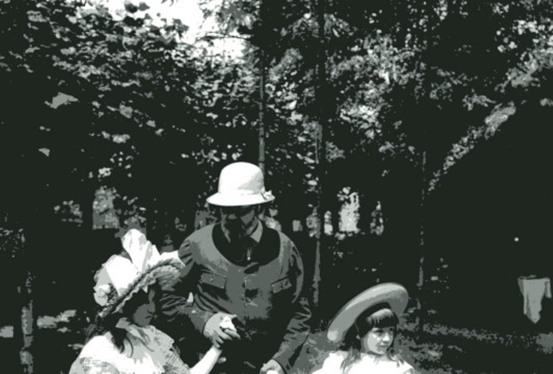 Image - Emile Zola et les enfants au parc Monceau