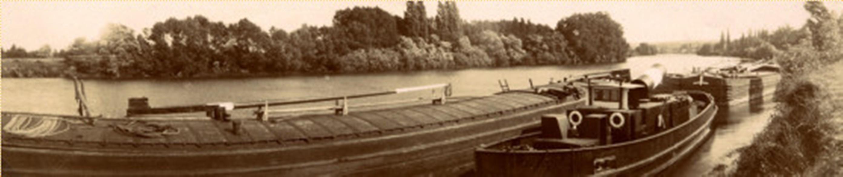 Image - Vue des rives de la Seine à Médan