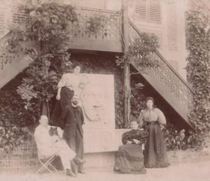 photographie 41 Zola, Laborde et Bruneau à Médan par Albert Laborde