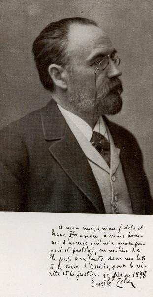 Image - Emile Zola, dédicace à Alfred Bruneau