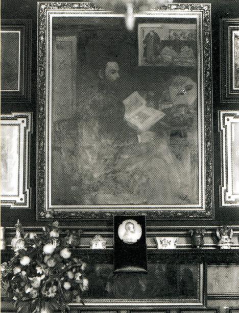 Image - Portrait de Zola par Manet photographié par Zola