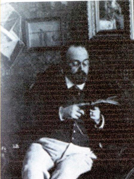 Image - Emile Zola lisant