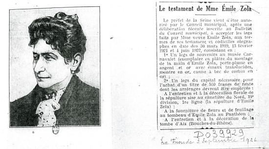 Image - Le testament de Mme Emile Zola